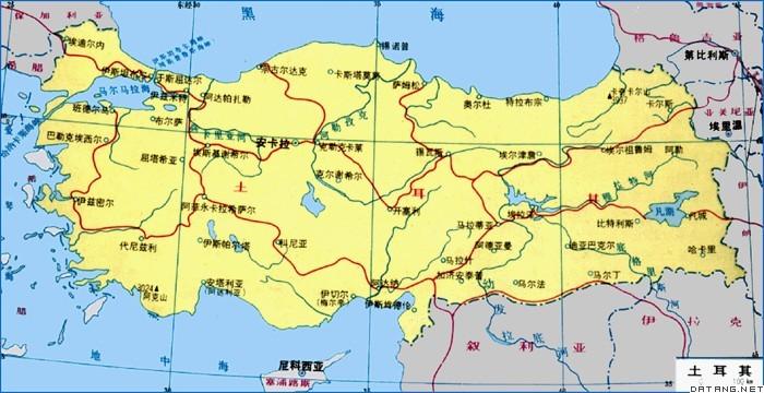 地图:土耳其